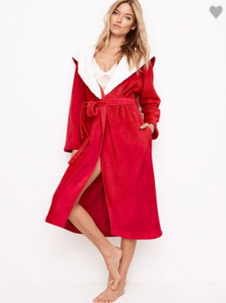 vs long cozy robe